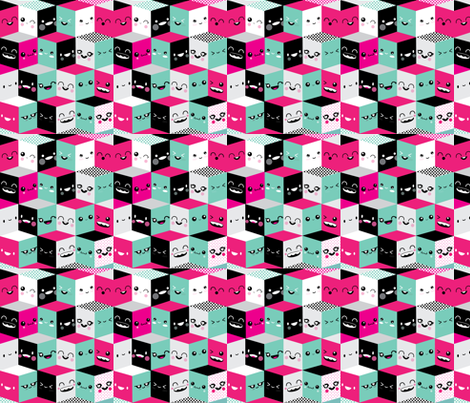 Themanyfacesofcute fabric by babybubbleco on Spoonflower - custom fabric