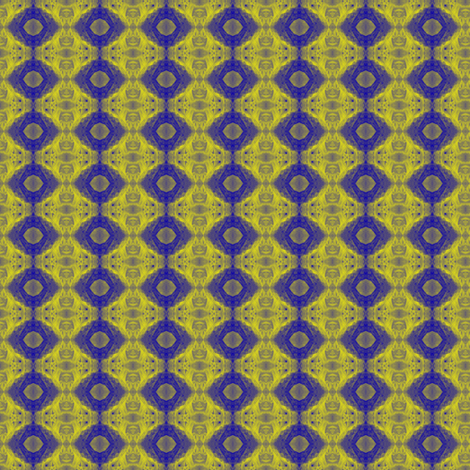 Blue Cell fabric by gimlet on Spoonflower - custom fabric