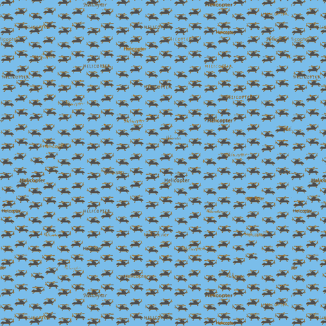 Mini Helicopters-ch-ch fabric by petals_fair on Spoonflower - custom fabric