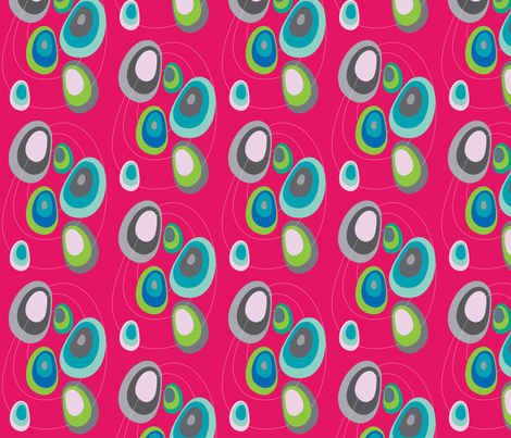 flyingstones - pink fabric by ma'vi on Spoonflower - custom fabric