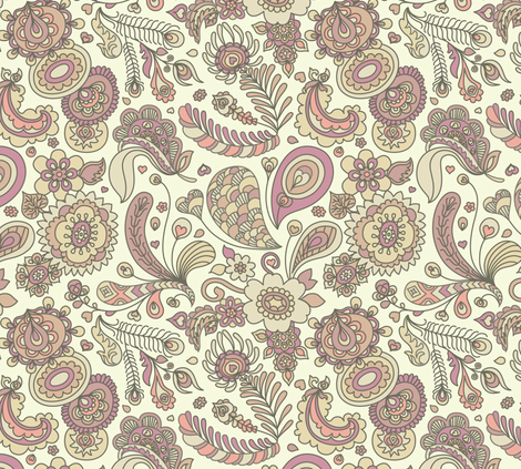 Henna Feather Paisley fabric by teja_jamilla on Spoonflower - custom fabric