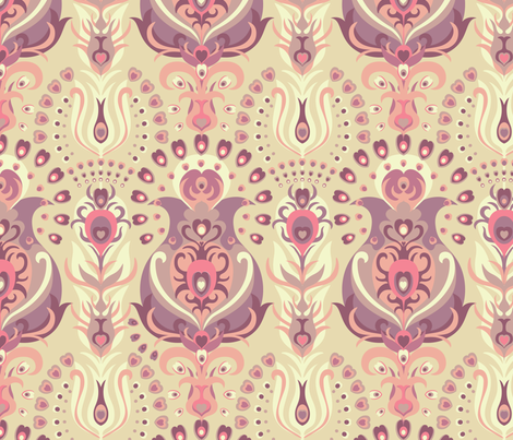Ornamental Feathers fabric by teja_jamilla on Spoonflower - custom fabric