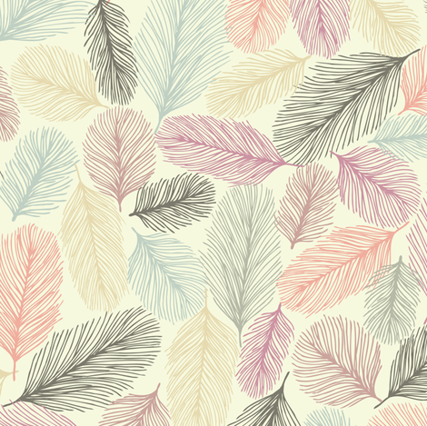 Illustrated Feathers fabric by teja_jamilla on Spoonflower - custom fabric