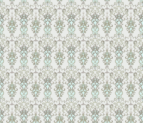 Damask Large scale fabric by joanmclemore on Spoonflower - custom fabric