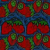 Mod Pop Strawberry fabric