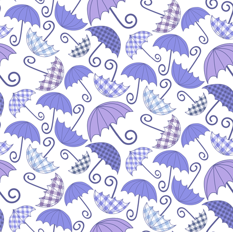 Umbrellas fabric by kezia on Spoonflower - custom fabric