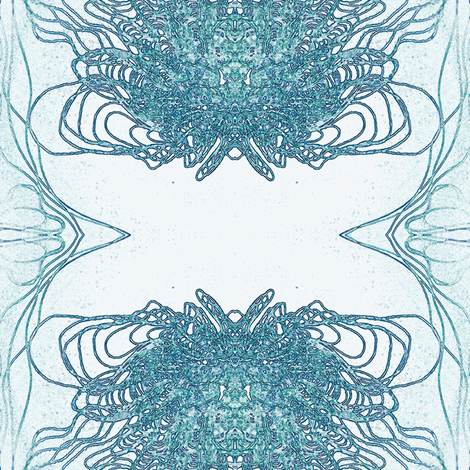 organic mirror fabric by heikou on Spoonflower - custom fabric