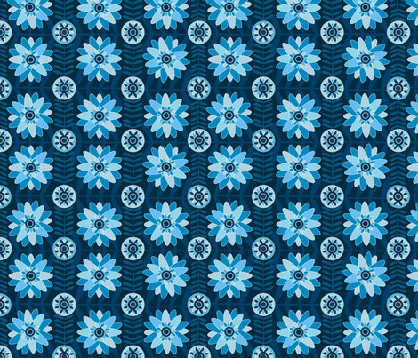 Blue Flowers fabric by wildnotions on Spoonflower - custom fabric