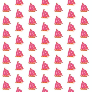 Sail Boats in Pink