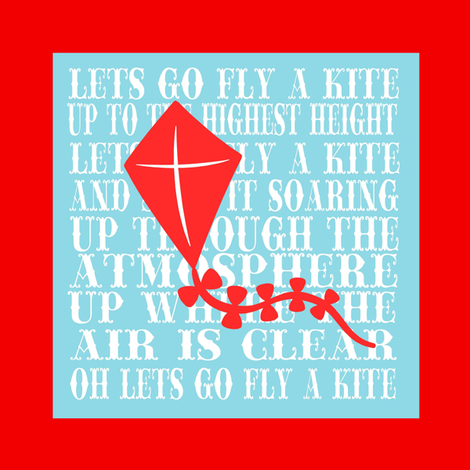 LETS GO FLY A KITE fabric by lil_bunky_designs on Spoonflower - custom fabric