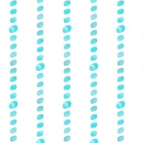 Turquoise beaded stripes