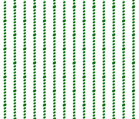 Emerald green beaded stripes fabric by the_white_cat on Spoonflower - custom fabric