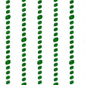 Emerald green beaded stripes