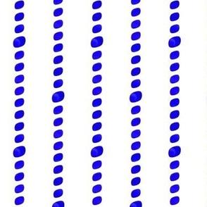 Royal blue beaded stripes