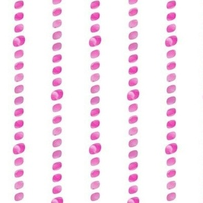 Hot pink beaded stripes
