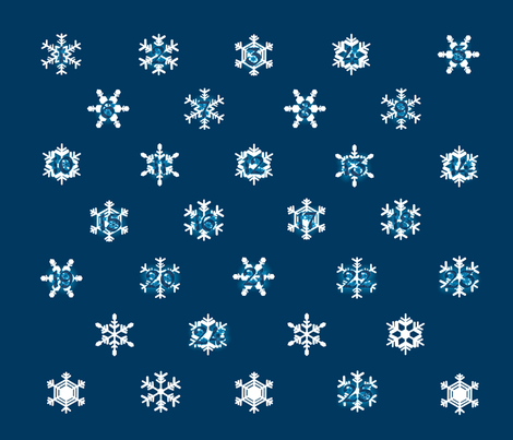 Snowflake_Calendar fabric by draechinundkater on Spoonflower - custom fabric