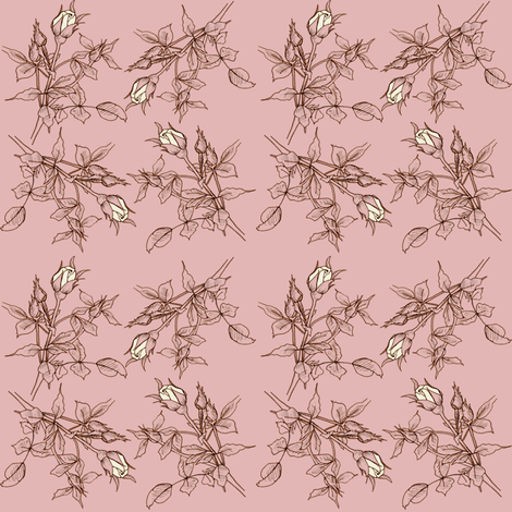 Dusty Pink Rose fabric by countrygarden on Spoonflower - custom fabric