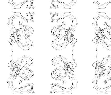 Inkblot Dragon fabric by art_rat on Spoonflower - custom fabric