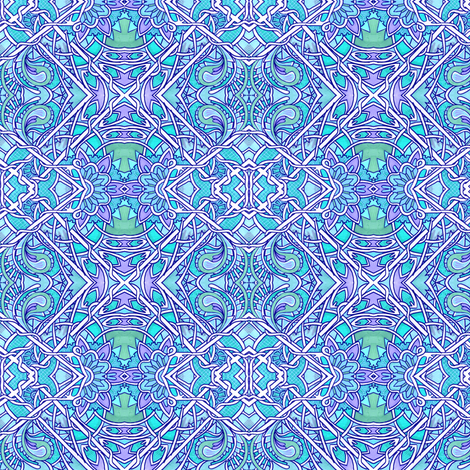 Baby Blue Baroque fabric by edsel2084 on Spoonflower - custom fabric