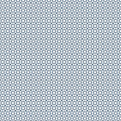 Doll prints in navy on white fabric by the_white_cat on Spoonflower - custom fabric