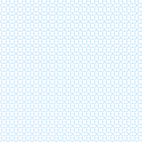 Doll prints in ice blue on white fabric by the_white_cat on Spoonflower - custom fabric