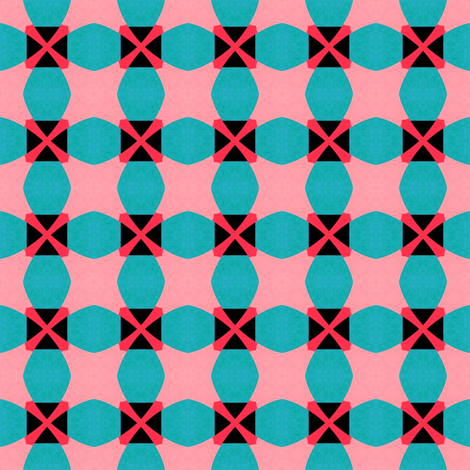 Retro Pink&Blue fabric by stoflab on Spoonflower - custom fabric
