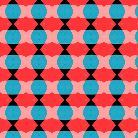 retro Red & Blue fabric by stoflab on Spoonflower - custom fabric