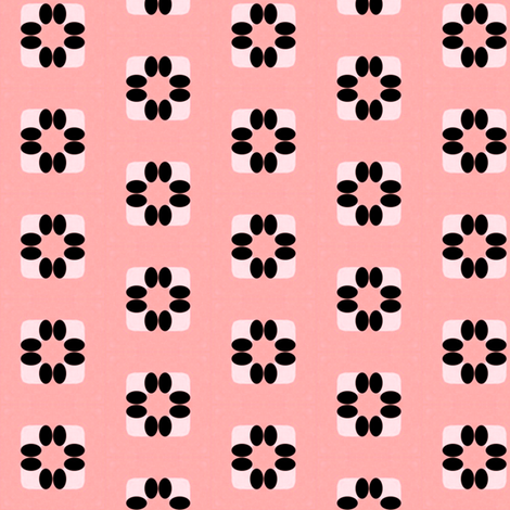 Vintage Pink Flowers fabric by stoflab on Spoonflower - custom fabric