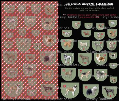 24 dogs advent calendar