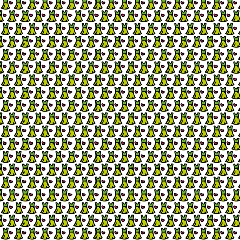 Little green dress fabric by samvanvoorst on Spoonflower - custom fabric