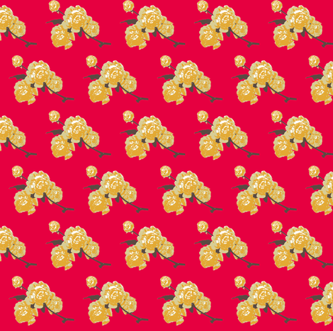 Retro Roses for the Drawing Room fabric by bargello_stripes on Spoonflower - custom fabric