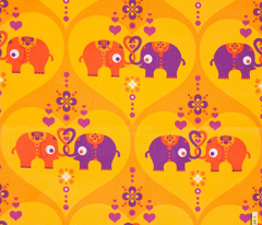 Elephants in Love Saffron