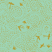 dotty leaves & flying birds