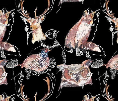 Hunted fabric by sianalexandria on Spoonflower - custom fabric