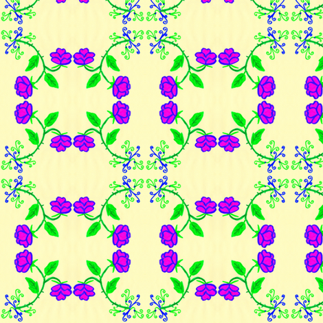 FLORA FLOWER GRACIA fabric by angelgreen on Spoonflower - custom fabric