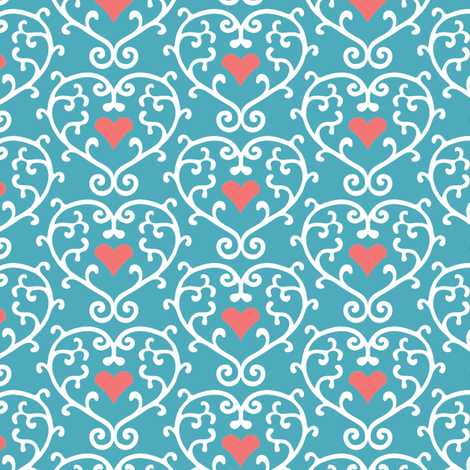 Caged Heart fabric by kezia on Spoonflower - custom fabric