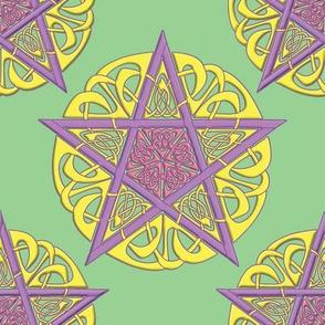 Ostara Knotwork Pentacles