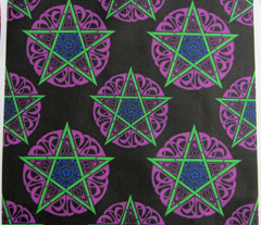 Small Knotwork Pentacles on Black