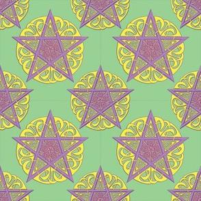 Small Ostara Knotwork Pentacles