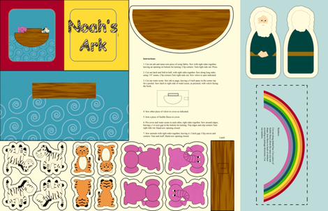Noah's Ark Baby Book fabric by evenspor on Spoonflower - custom fabric