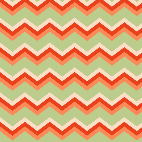 Tomato Chevron fabric by countrygarden on Spoonflower - custom fabric