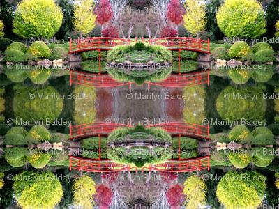 Japanese gardens Toowoomba red bridge.