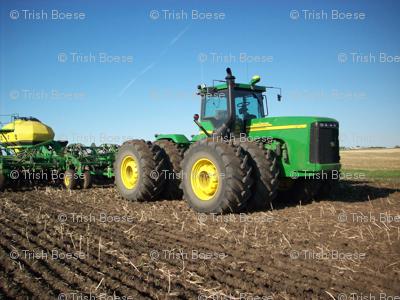 John Deere Tractor Seeding