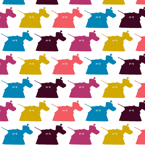 tin girlie dog fabric by scrummy on Spoonflower - custom fabric