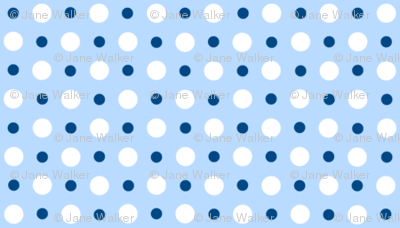 My Garden Dots Coordinate Blue ©2011 by Jane Walker