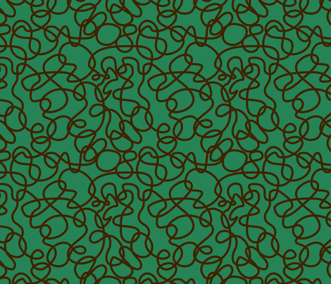 BorGaGa-Scroll work-Green fabric by deesignor on Spoonflower - custom fabric