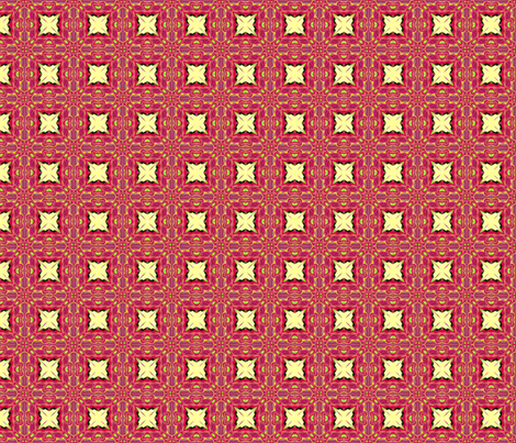 Red tile fabric by koalalady on Spoonflower - custom fabric