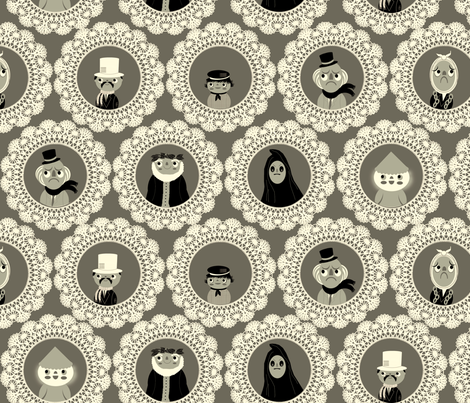 Christmas Carol fabric by heidikenney on Spoonflower - custom fabric