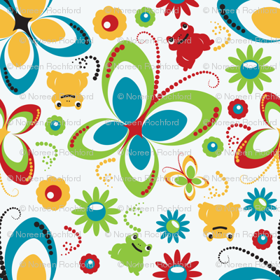 retro butterfly frog-white