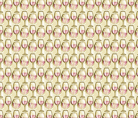 A Study in Wine Glasses fabric by siya on Spoonflower - custom fabric